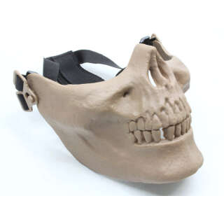 China made Airsoft Mask Skull Half Face TAN