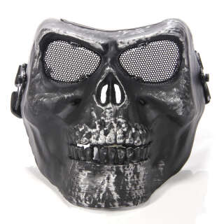 China made Airsoft Mask Skull Silver/Black