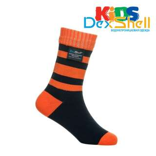 Dexshell Children soсks orange L Шкарпетки водонепроникні для дітей помаранчеві