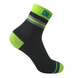 Dexshell Pro visibility Cycling L 43-46 Шкарпетки водонепроникні з зеленою смугою
