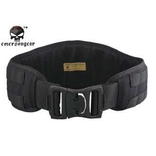 Emerson Padded Molle Waist Belt Black