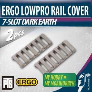Ergo LowPro Rail Cover 7-slot FDE
