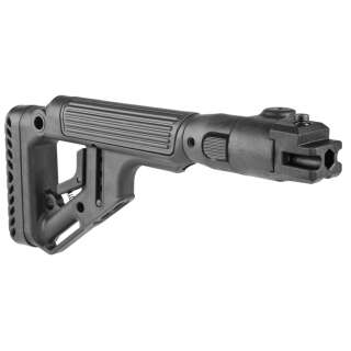 FAB Defense Folding Buttstock with Cheek Piece for AKM (Polymer Joint) Black