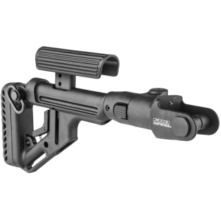 FAB Defense Folding Buttstock with Cheek Piece for AKMS (Underfolder) Black