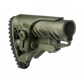 FAB Defense M4/AR15 Buttstock with Adjustable Cheek Rest Green