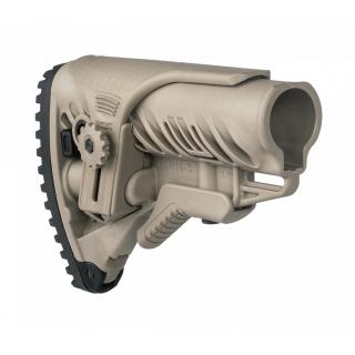 FAB Defense M4/AR15 Buttstock with Adjustable Cheek Rest Tan
