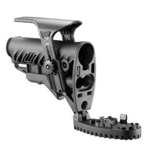 FAB Defense M4/AR15 Buttstock with Recoil Reducing Buffer Tube for AK Black