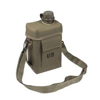 Фляга Mil-Tec с чехлом и ремнем Patrol 2л.(Olive), Sturm Mil-Tec