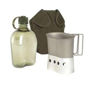 Фляга Mil-Tec похідна з чохлом 1Qt (Olive), Mil-tec