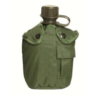 Фляга Mil-Tec с чехлом,США,1л. (Olive), Mil-Tec Sturm