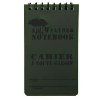 Fosco Waterproof Notebook 13x8cm Green