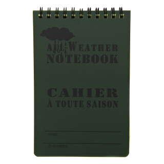 Fosco Waterproof Notebook 15x10cm Green