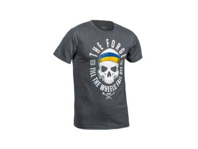 Футболка 5.11 THE FORGE UKRAINIAN FLAG TEE (лимитированная серия), [035] CHARCOAL HEATHE