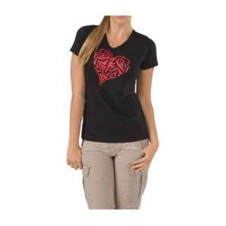 Футболка женская 5.11 HEART OF STEEL T-SHIRT - WOMEN'S, [019] Black