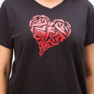 Футболка женская 5.11 HEART OF STEEL T-SHIRT - WOMEN'S, [019] Black, 5.11 Tactical®