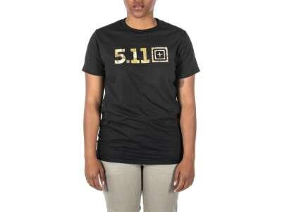 Футболка жіноча з малюнком 5.11 Legacy Camo Fill, Black, 5.11 ®
