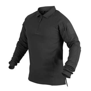 Футболка Polo RANGE з д/рукавами, Black, Helikon-Tex®