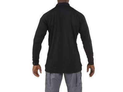 Футболка Поло тактична з довгим рукавом 5.11 Perfomance Long Sleeve Polo, [019] Black, 44140
