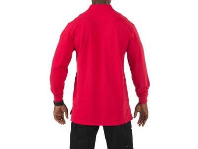 Футболка Поло тактическая с длинным рукавом 5.11 Tactical Professional Polo - Long Sleeve, [477] Range Red, 5.11 Tactical®