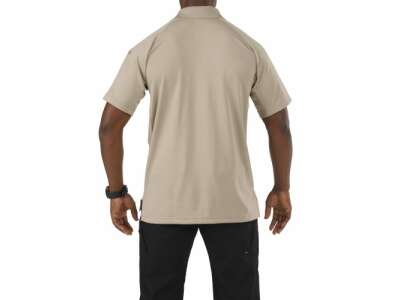 Футболка поло тактическая с коротким рукавом 5.11 Performance Polo - Short Sleeve, Synthetic Knit, [160] Silver Tan, 5.11