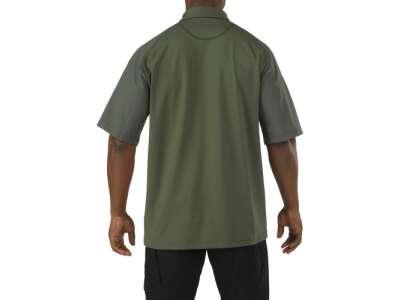Футболка Поло тактична з коротким рукавом 5.11 RAPID PERFORMANCE POLO - SHORT SLEEVE, [190] TDU Green, 44140