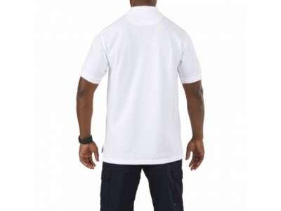 Футболка Поло тактическая с коротким рукавом 5.11 Professional Polo - Short Sleeve, [010] White, 5.11