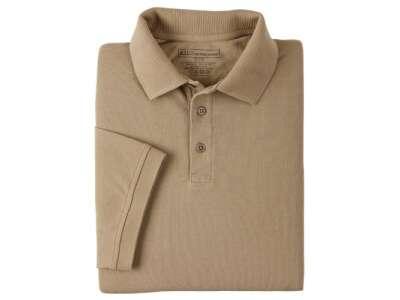 Футболка Поло тактична з коротким рукавом 5.11 Professional Polo - Short Sleeve, [160] Silver Tan, 44140