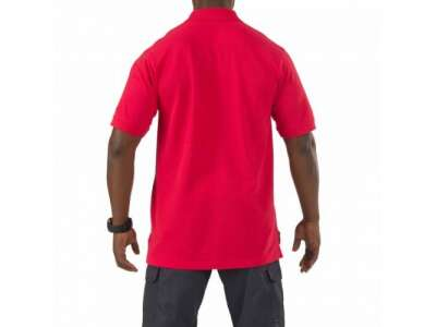 Футболка Поло тактическая с коротким рукавом 5.11 Professional Polo - Short Sleeve, [477] Range Red, 5.11