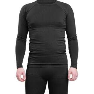 Футболка потоотводящая з довгим рукавом, [019] Black, Sturm Mil-Tec®