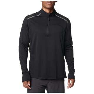 Футболка с длинным рукавом 5.11 Max Effort 1/4 Zip Pullover, [019] Black