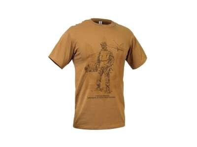 Футболка с рисунком Герої не вмирають..., [1174] Coyote Brown, P1G