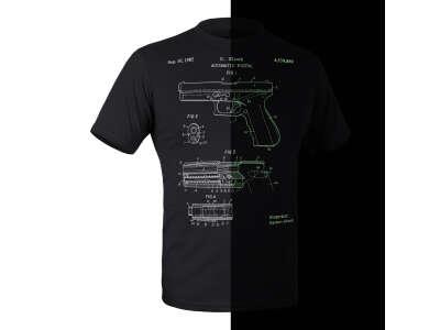 Футболка з малюнком GLOCK Pistol Legend NightGlow Series, P1G®
