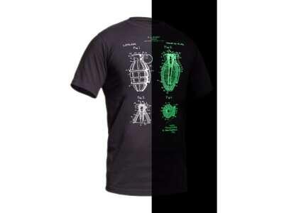 Футболка зі світловим малюнком Grenade NightGlow Series [тисячу двісті двадцять три] Graphite, P1G-Tac