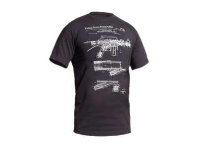 Футболка со светящимся рисунком M16/AR15 Rifle Legend NightGlow Series, [1223] Graphite, P1G®