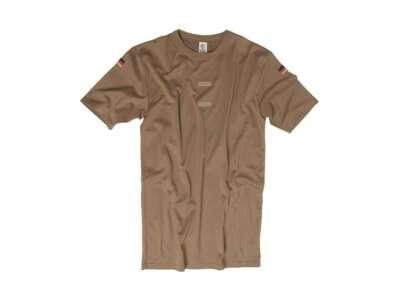 Футболка тропическая Бундесвер с флажками и липучкой, [112] Dark Brown, Sturm Mil-Tec® Reenactment