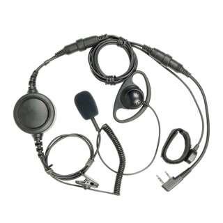 Гарнитура двухпроводная с отдельным микрофоном, Black, noname
