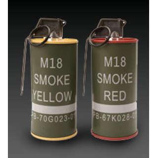 G&G M18 smoke Grenade BB Can Set RED/YELLOW
