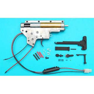 G&P Complete Gearbox Set M4/M16 (8mm, rear wiring, tamiya connector)