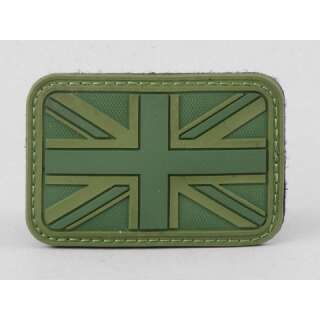 James Weekend Warrior UK Flag PVC Velcro Patch OD