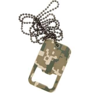 Жетон-открывачка военный DOG TAG BOTTLE OPENER, [1129] Камуфляж AT-DIGITAL, Sturm Mil-Tec® Reenactment