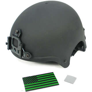 King Arms пласт. шлем IBH с креп. ПНВ - BK