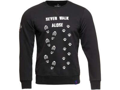 Klost свитшот Never Walk Alone черный