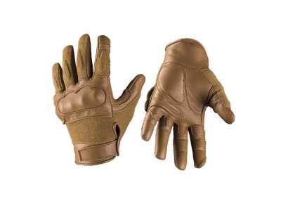 Перчатки Mil-Tec кожаные тактические с кевларовыми вставкам (Dark Coyote), noname