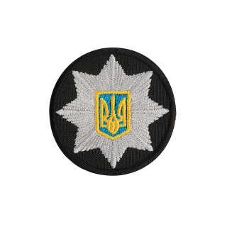 Кокарда Поліція кругла 5 см чорна