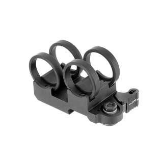 Кріплення (моноблок) для ЛЦВ і ліхтаря, ø-20 мм, Black, ACM