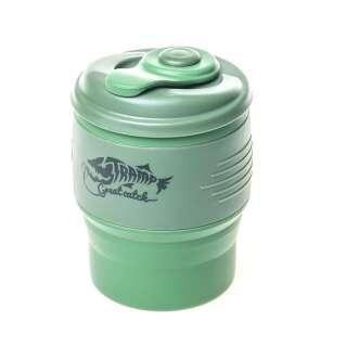 Кружкаскладнаясиликоноваяскрышкой TrampTRC-082-green, TRAMP