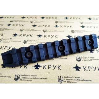 Крук рейка Пикатинни з кріпленням M-Lok чорна (10 слотів, 1 скіс)
