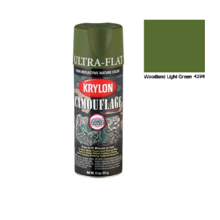 Krylon Fusion Camouflage Paint Spray Woodland Light Green