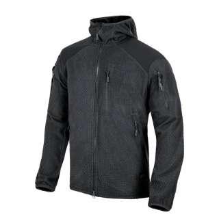 Куртка ALPHA HOODIE - Grid Fleece, Black, Helikon-Tex