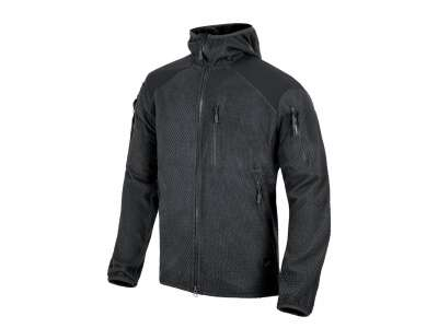 Куртка ALPHA HOODIE - Grid Fleece, Black, Helikon-Tex